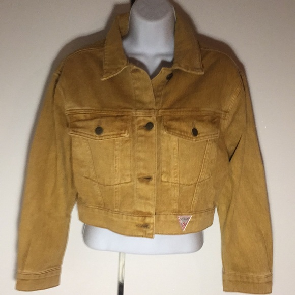 Guess Jackets & Blazers - Vintage style Guess denim jacket mustard yellow